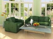 Zelená v interiéru