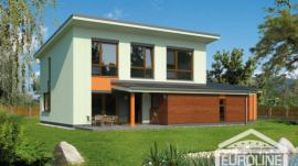 Vizualizace typového domu EKOLINE 1037