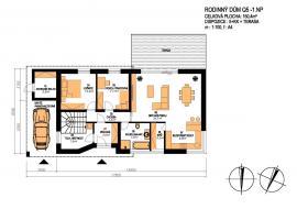 Rodinný dům Q5 - půdorys 1. nadzemního podlaží