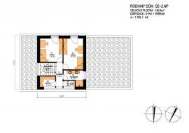 Rodinný dům Q5 - půdorys 2. nadzemního podlaží