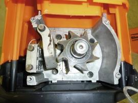 Štěpkovač Powersilent 2800, detail ozubeného kola, zdroj: Mountfield