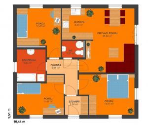 Půdorys typového domu Largo 98