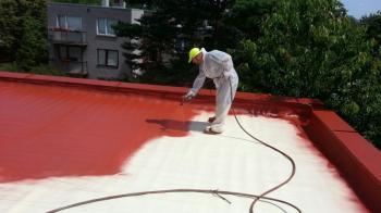 Zateplení ploché střechy polyuretanovou pěnou