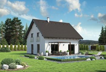 Typový nízkoenergetický či pasivní dům Beryl