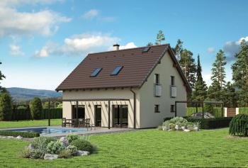 Typový nízkoenergetický či pasivní dům LITHIA