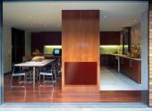 Skleněný sálavý GR panel v kuchyni