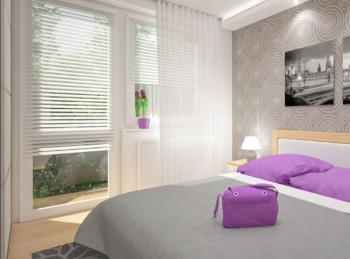 Návrh ložnice, autor: Hana Micková