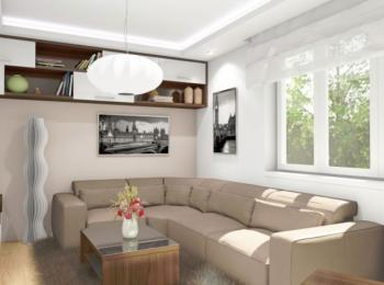 Návrh obývacího pokoje, autor: Hana Micková