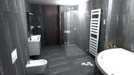 Michal Libosvár, Lamer koupelny, Ostrava, designový radiátor Zehnder Metropolitan Spa