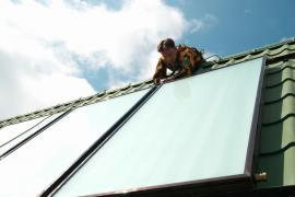 Instalace solárně termických kolektorů