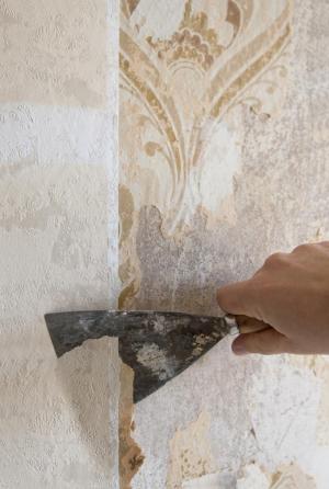 Odstraňování starých papírových tapet