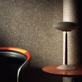 Textilní omítka v obývacím pokoji