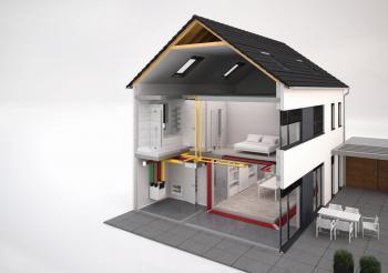 Obr: www.zehnder.cz, systém větrání domu