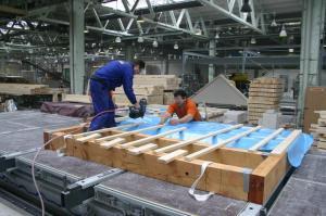 Foto: RD Rýmařov - výroba prefabrikovaných panelů (kostra)