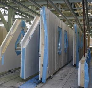 Foto: RD Rýmařov - panely připravené na stavbu