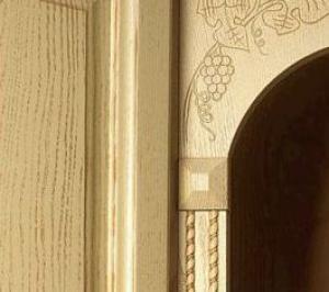 Foto: EUROZA, detail HALINA – HARMONIA (dýha jasan a drásaná patina)