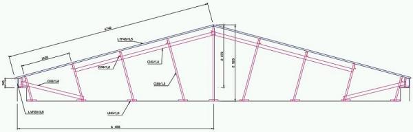 Obr: Lindab, konstrukce šikmé střechy
