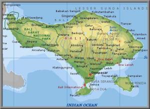 Mapa Ostrov Bali Mapa